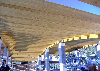 Travi copertura in legno